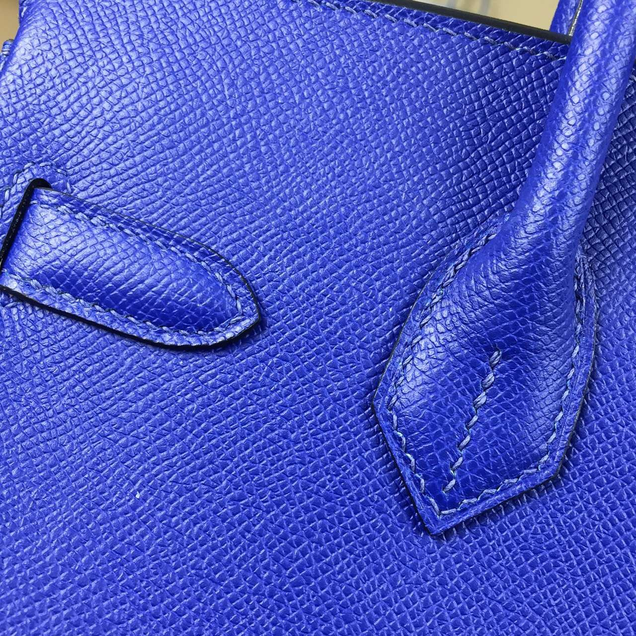 Popular Hermes Birkin30 7T Blue Electric Epsom Calfskin Leather