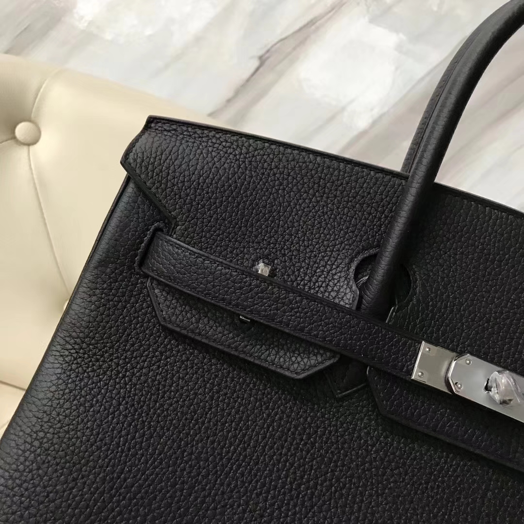 Hermes Birkin 35 Black Togo Silver Hardware
