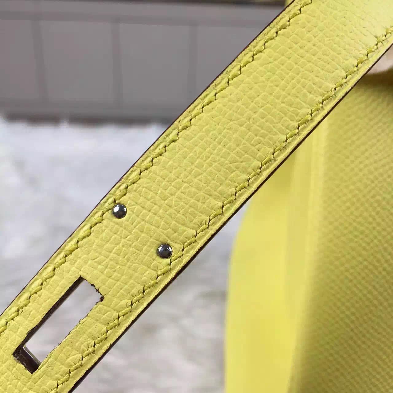 Custom-made Hermes Epsom Calfskin Leather Birkin30 C9 Yellow