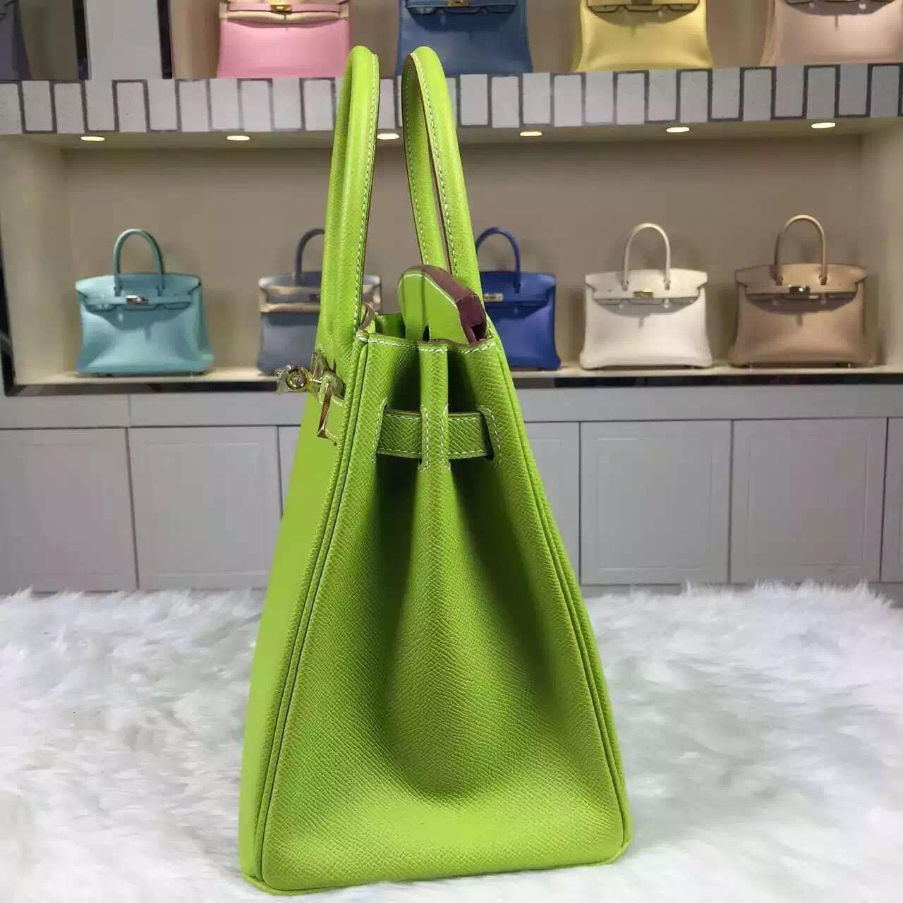 New Fashion Hermes Kiwi Green Epsom Leather Birkin30cm