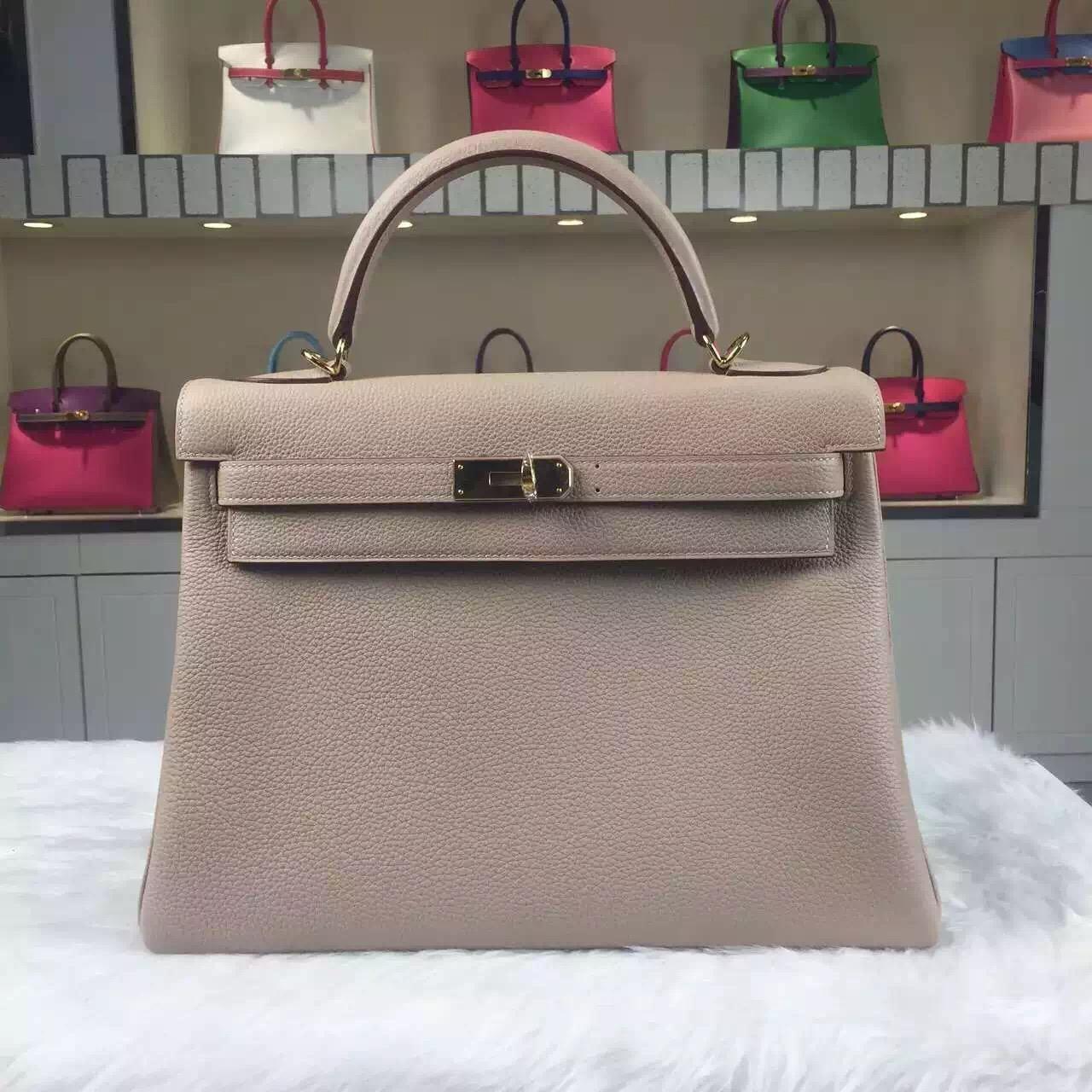 Online Store Hermes 1F Diamond Grey Togo Calfskin Kelly Bag32CM