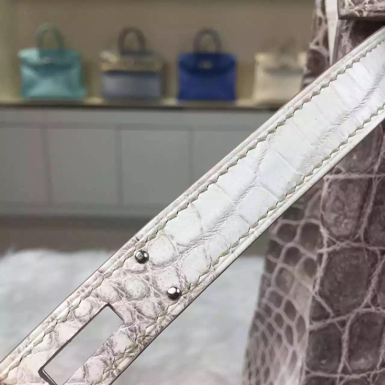Discount Hermes Kelly32 Himalaya Color Crocodile Leather Tote Bag