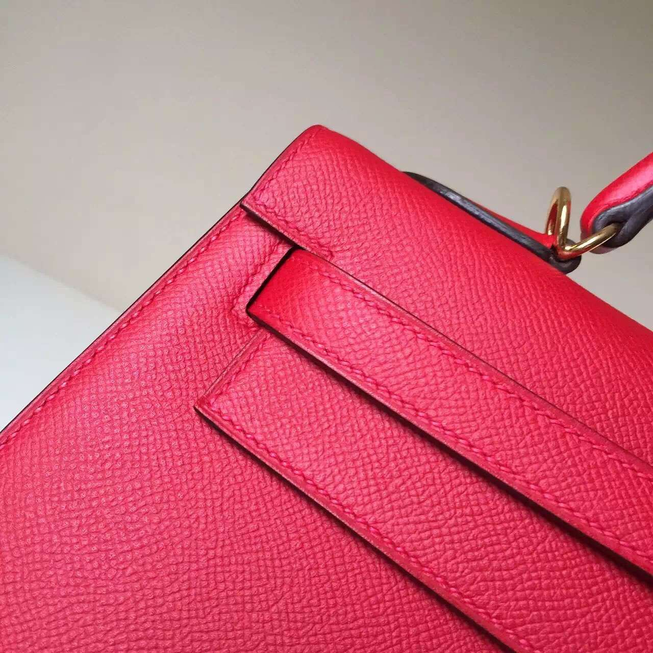 Discount Hermes Q5 Rouge Casaque Epsom Leather Sellier Kelly Bag 32cm