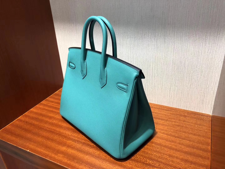 Wholesale Hermes Epsom Calf Birkin25CM Bag New Color U1 Vert Veronese Silver Hardware