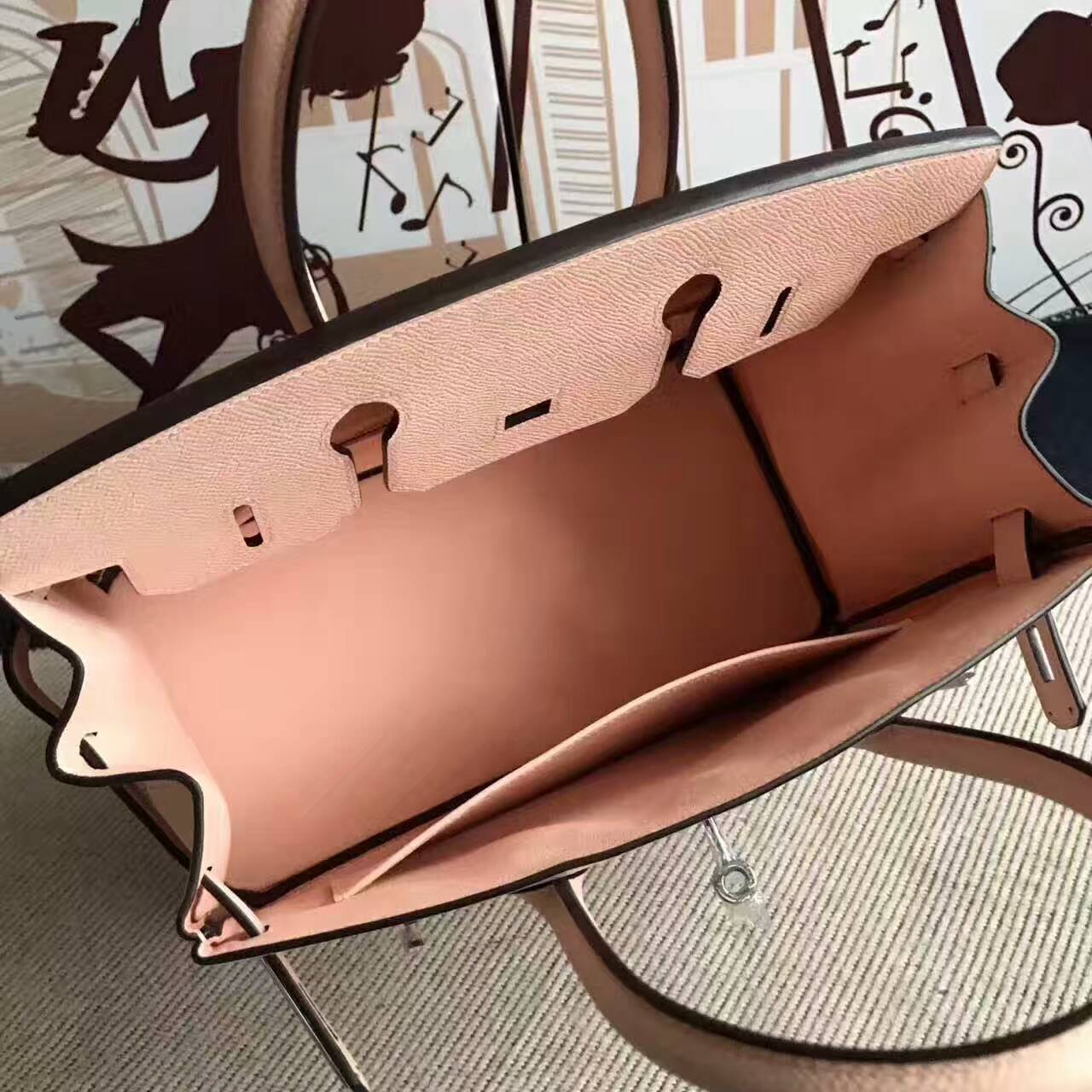 New Arrival Hermes Birkin30cm Bag in P1 Rose Elglantine Epsom Calfskin Leather