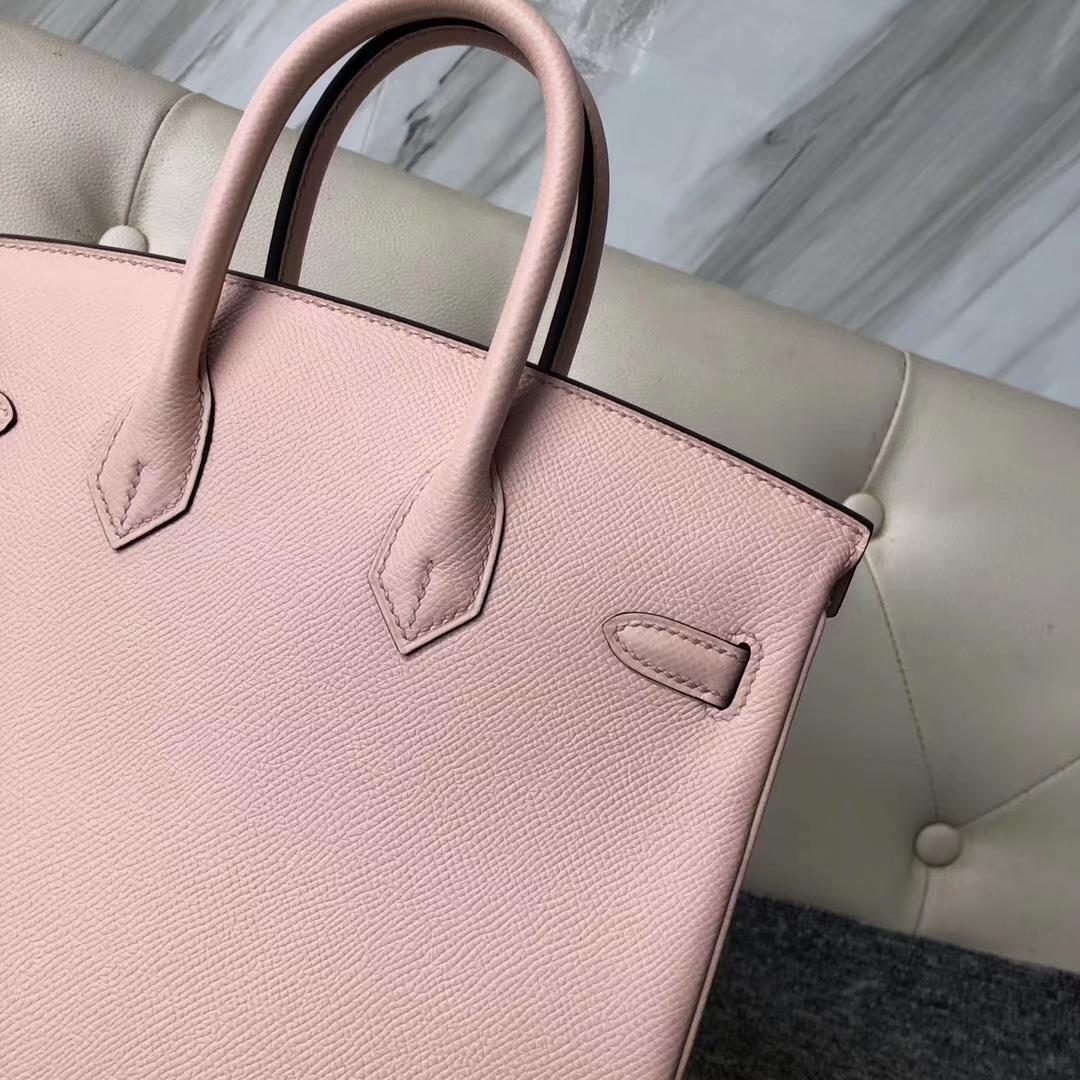 Pretty Hermes Epsom Birkin Bag25CM in P1Rose Elglantine Gold Hardware