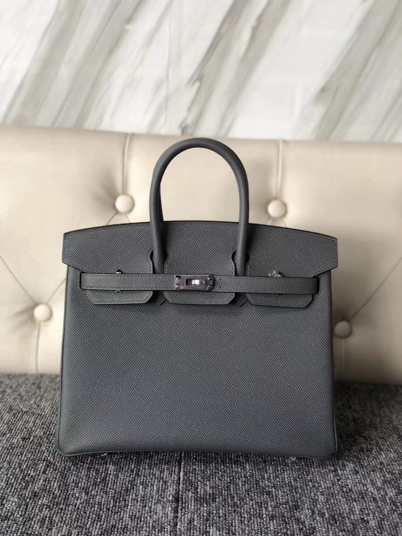 Customize Hermes CC63 Vert Amande Epsom Calf Birkin25CM Bag Silver Hardware