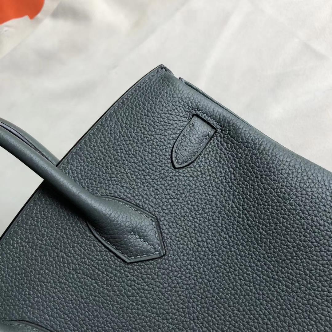 Stock Hermes CC63 Vert Amande Togo Calf Birkin Bag25CM Gold Hardware