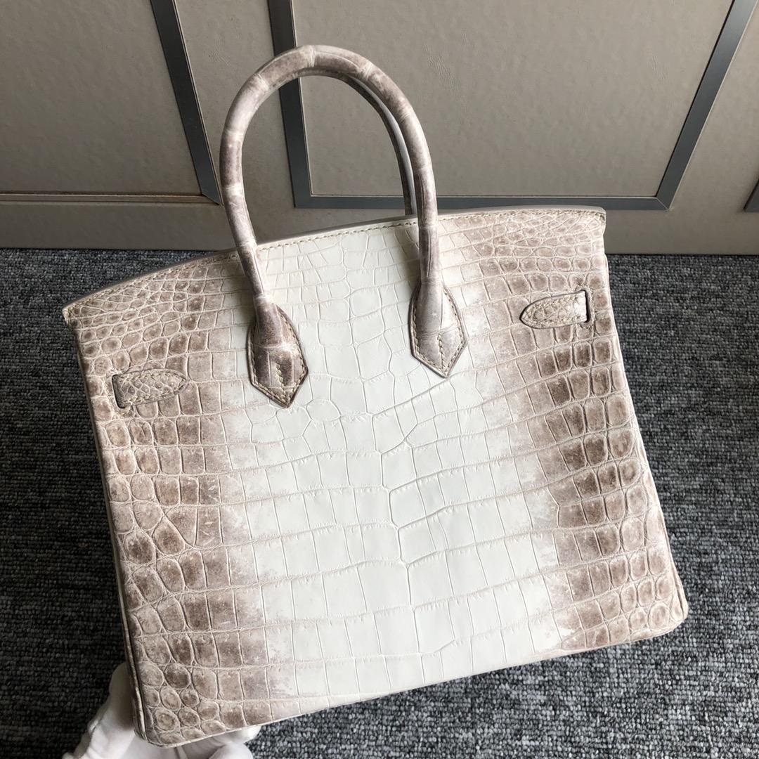 Stock Hermes Birkin25CM Bag Himalaya Crocodile Leather Silver Hardware