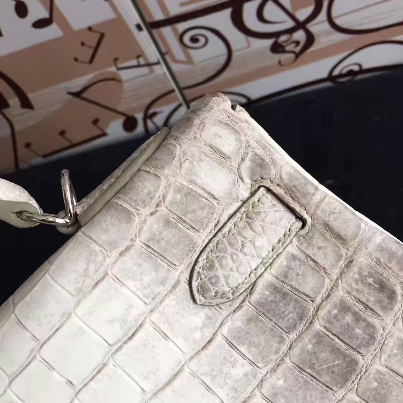 Wholesale Hermes Himalaya Crocodile Leather Retourne Kelly Bag 32CM
