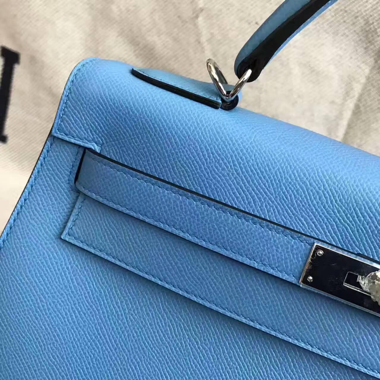 Wholesale Hermes Sellier Kelly Bag 32CM in 2T Blue Paradise Epsom Leather