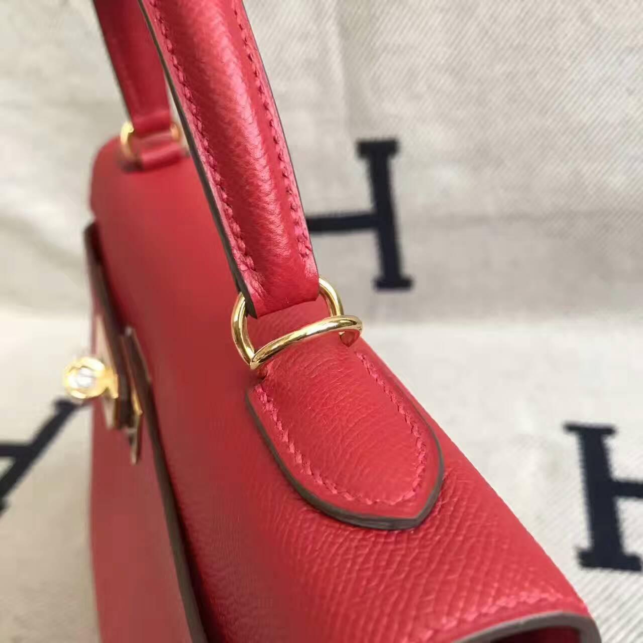 Discount Hermes Q5 Rouge Casaque Epsom Leather Kelly32CM Handbag