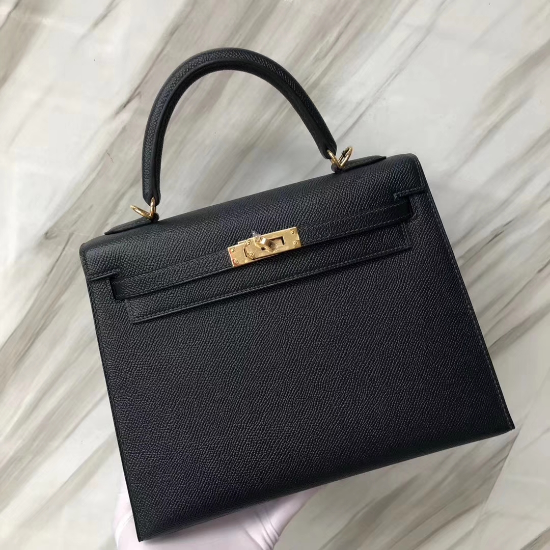 New Arrival Hermes 6O Vert Cypress Epsom Calf Kelly Bag25CM Gold Hardware