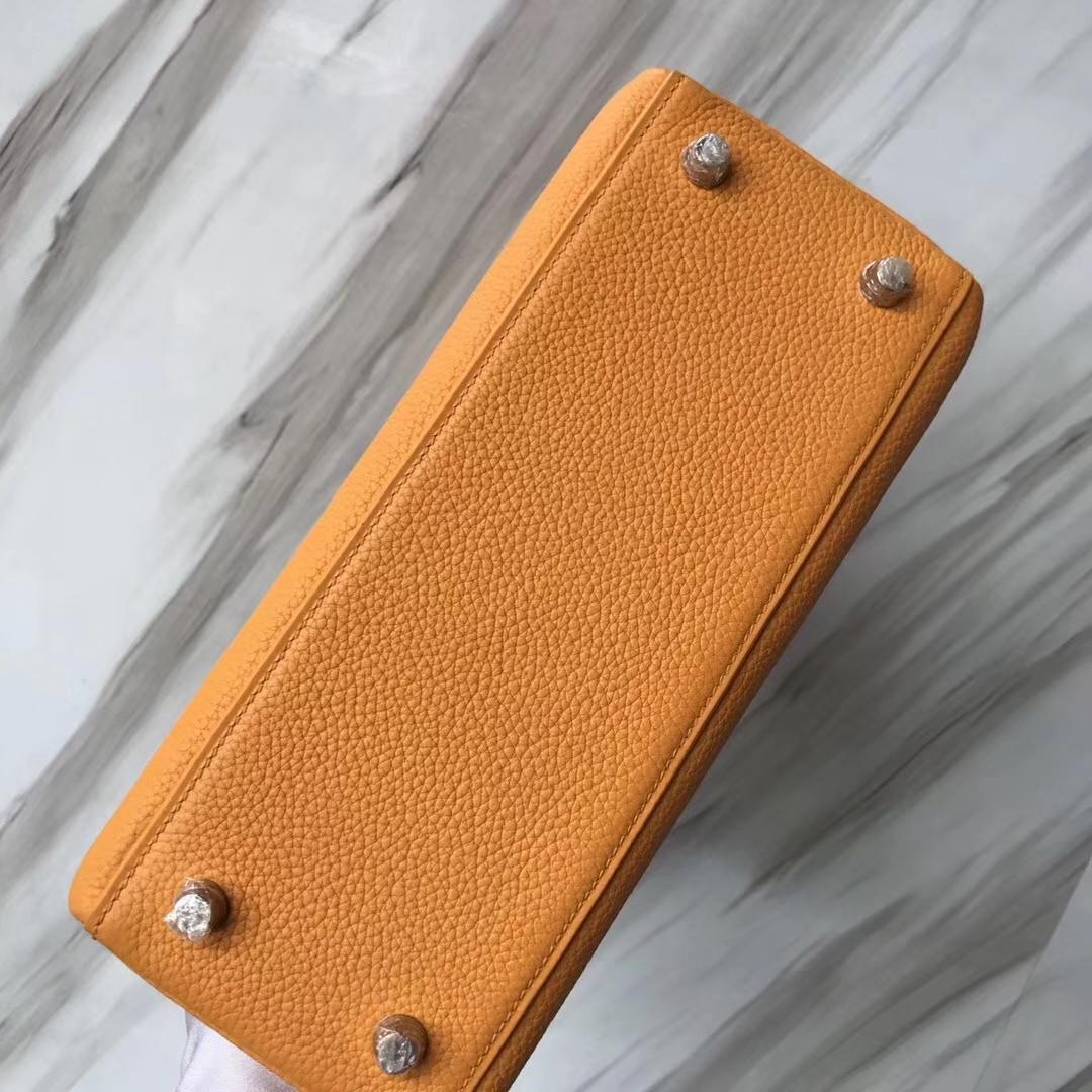 Stock Wholesale Hermes Togo Kelly Bag25CM I9 Apricot Gold Hardware