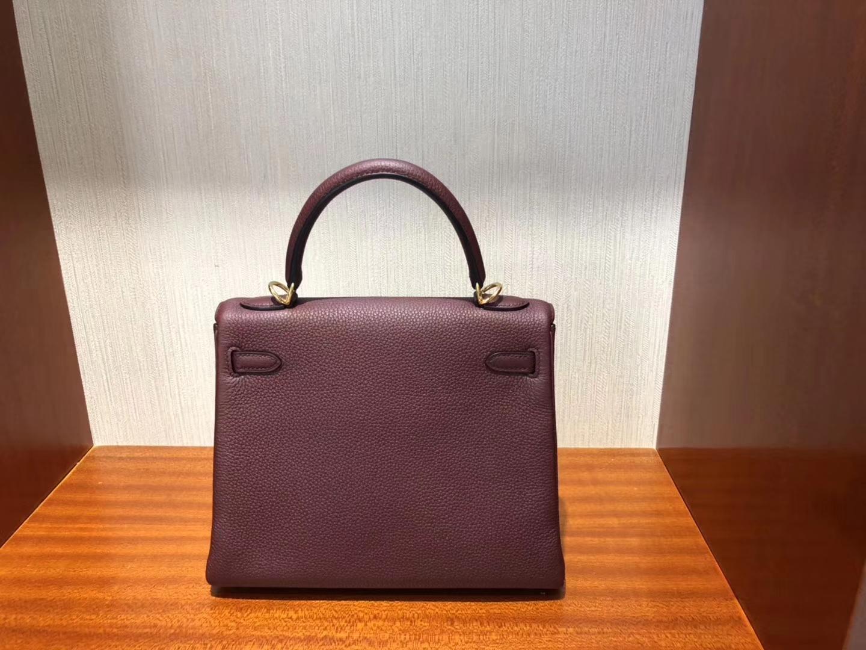 Fashion Hermes CK55 Rouge H Togo Calf Kelly Bag25CM Gold Hardware