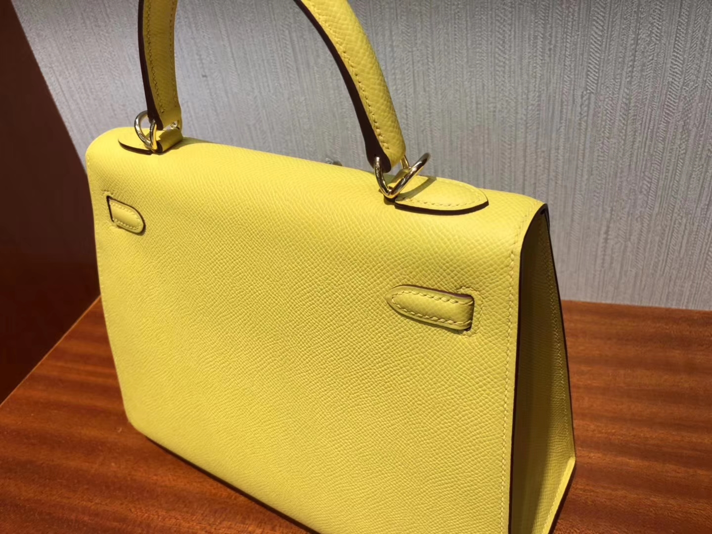 New Hermes 9O Jaune de Naples Epsom Calf Kelly Bag25CM Gold Hardware