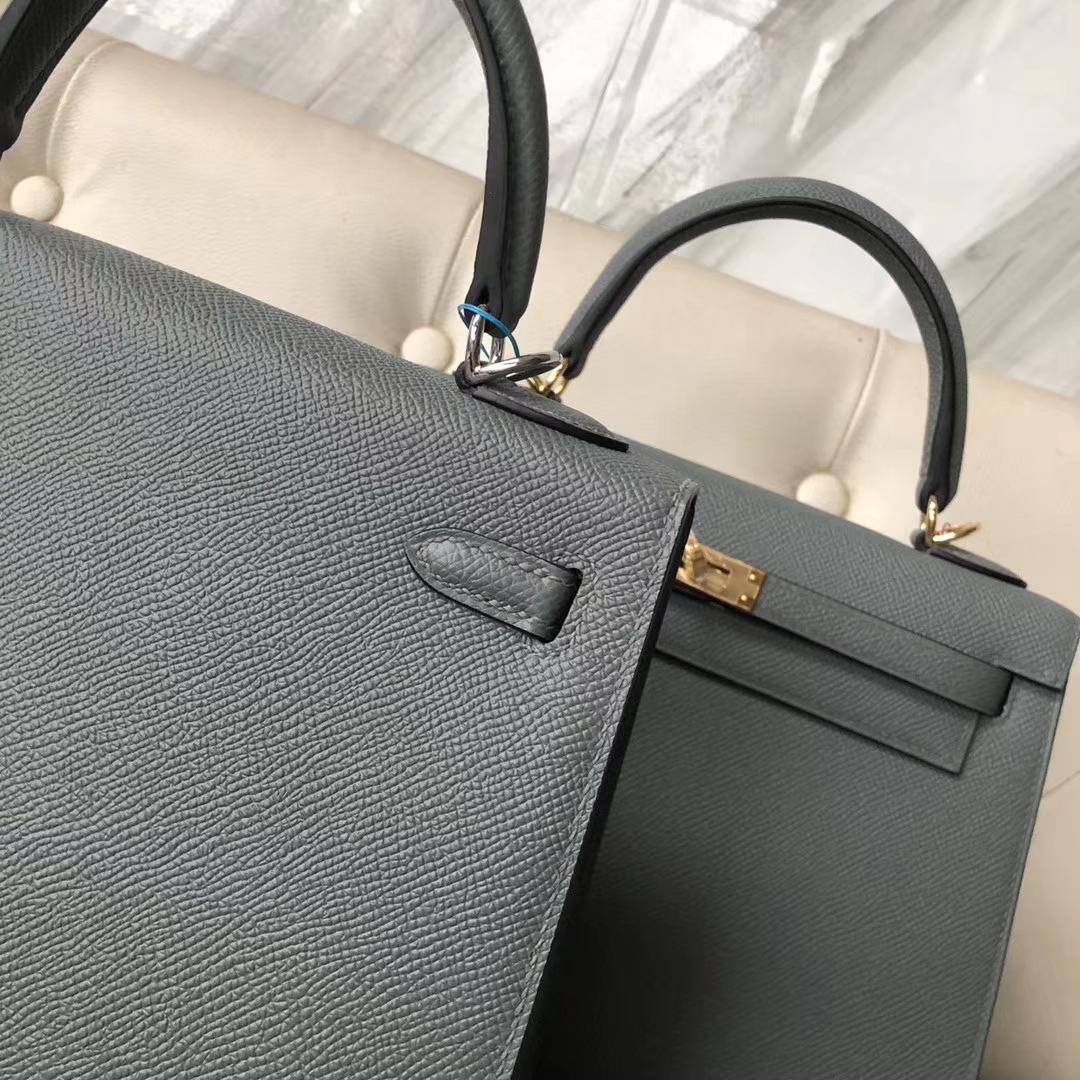 New Arrival Hermes CC63 Vert Amande Epsom Calf Kelly25cm Bag Silver Hardware