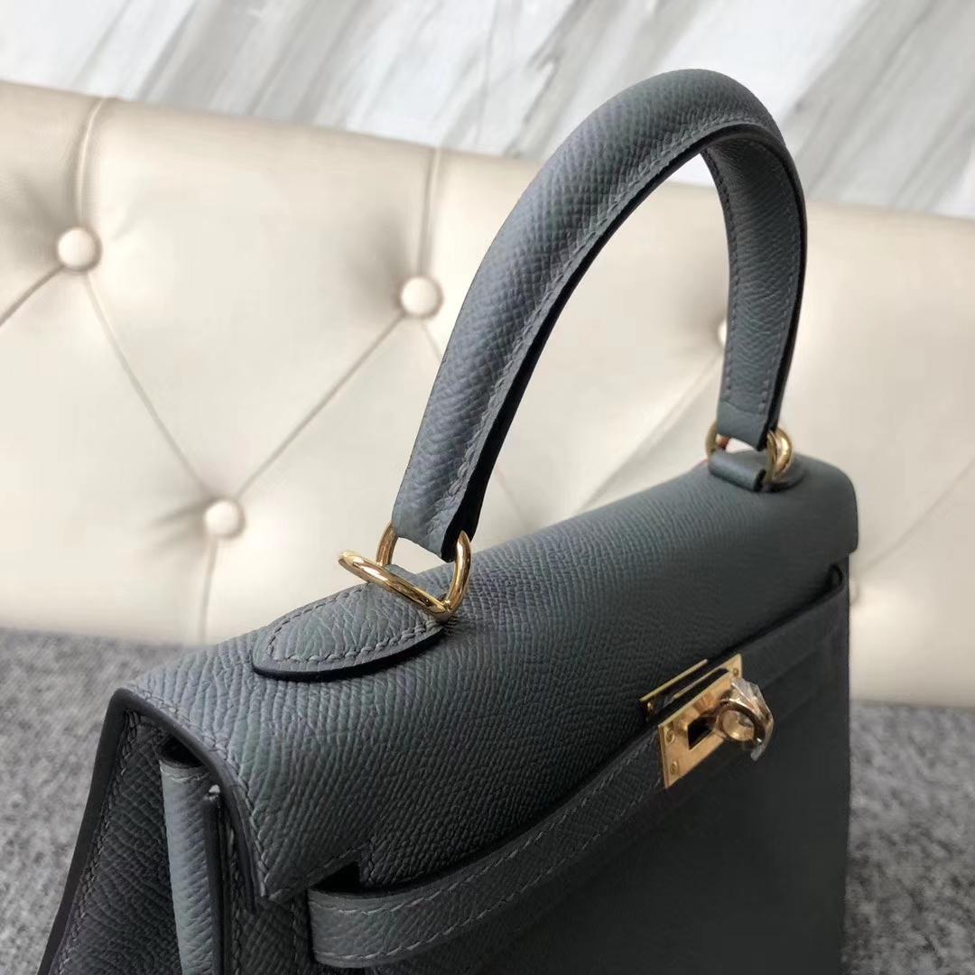 Discount Hermes Epsom Kelly25cm Bag in CC63 Vert Amande Gold Hardware