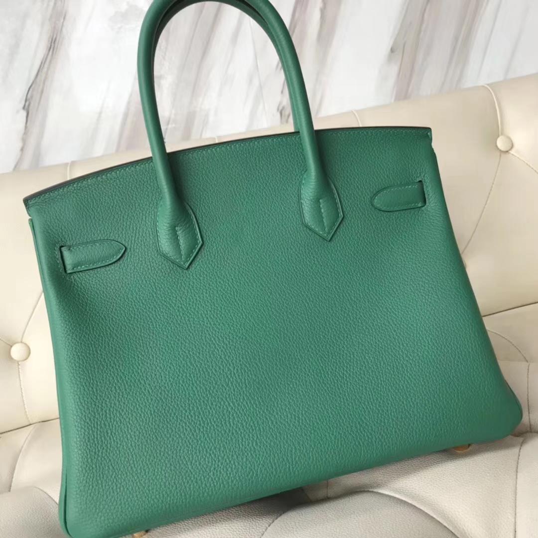 Sale Hermes Togo CalfLeather Birkin Bag30CM in U4 Vert Verigo Gold Hardware