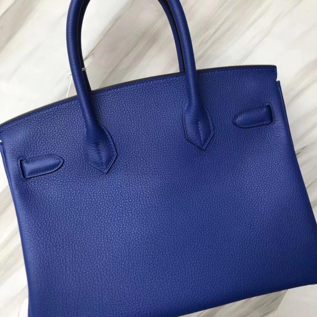 New Arrival Hermes i7 Blue Zellige Togo Calf Birkin30CM Bag Gold Hardware