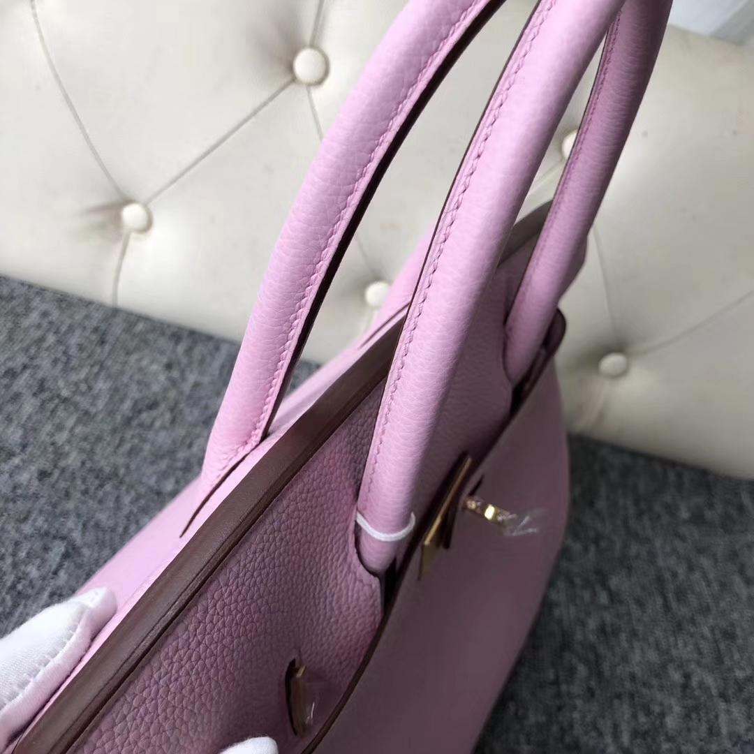Hot Sale Hermes New Color X9 Mauve Sylvestre Togo Calf Birkin Bag30CM Gold Hardware