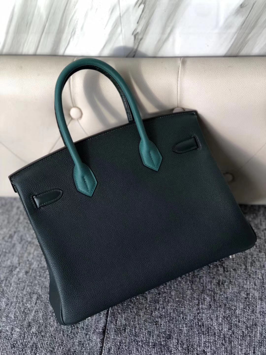 Stock Hermes Touch Series Birkin30CM Bag in Eight-color Silver Hardware
