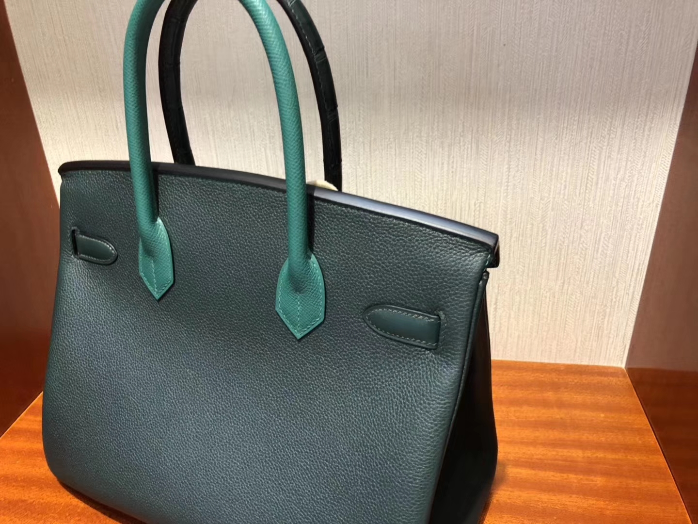Discount Hermes Eight-color Crocodile/Togo Leather Birkin30CM Bag Silver Hardware