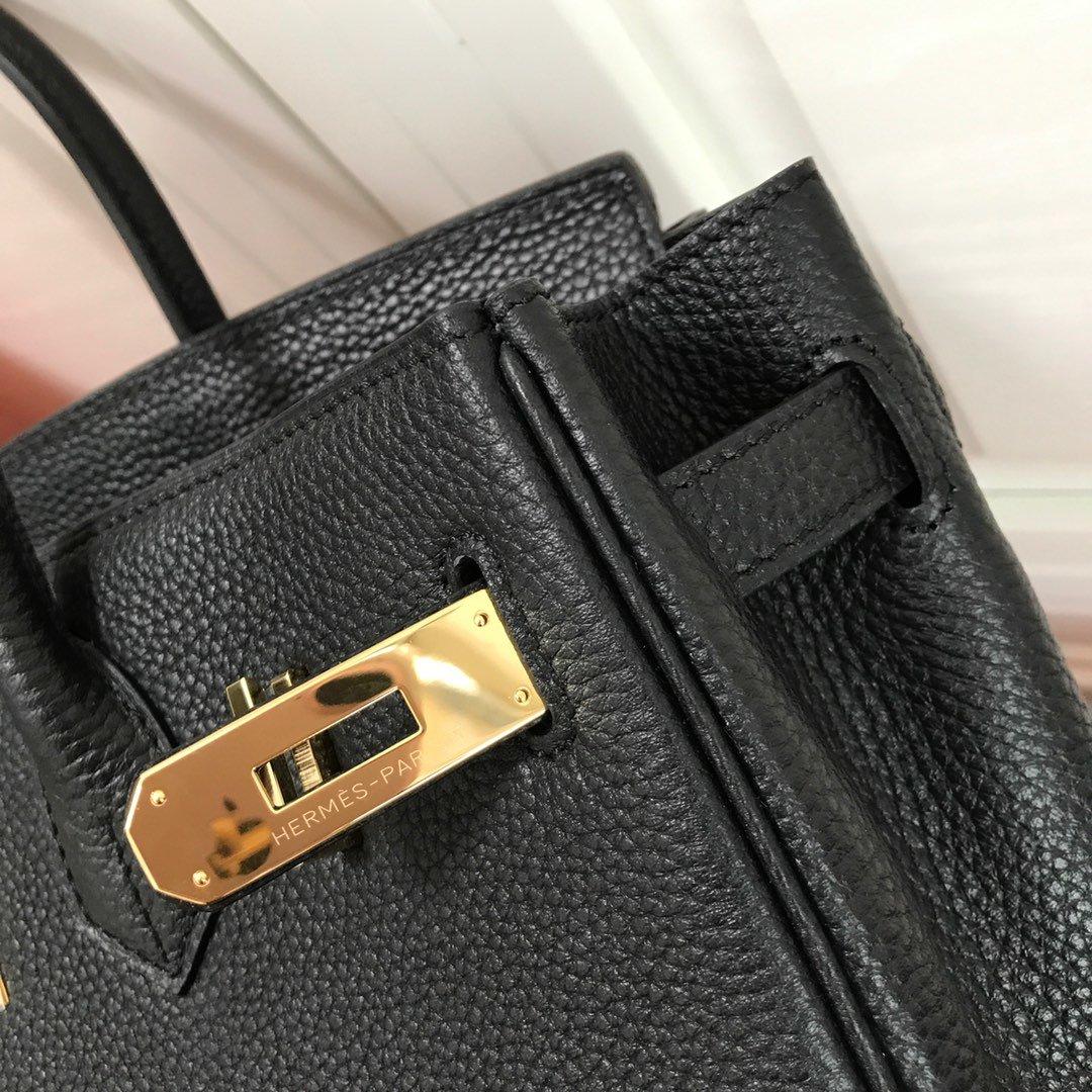 Hermes Birkin 30 Black Togo Gold