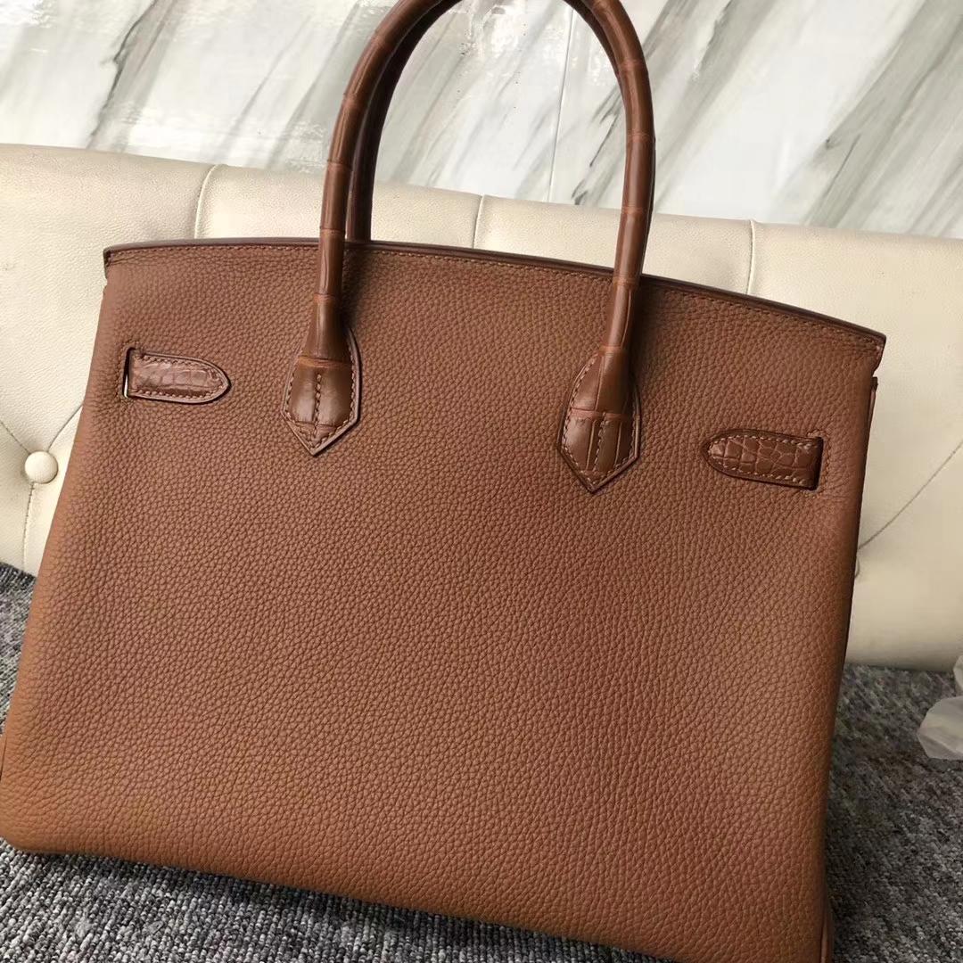 Customize Hermes CK37 Gold Touch SeriesBirkin Bag30CM Silver Hardware