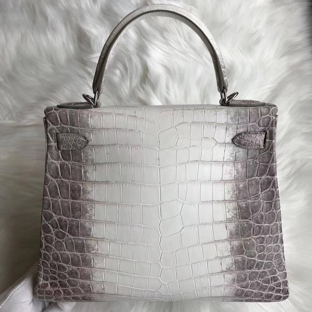 Noble Hermes Himalaya CrocodileLeather Kelly Bag28CM Silver Hardware
