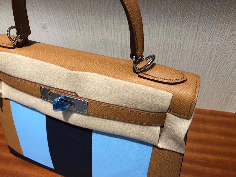 Fashion Hermes Three Color Epsom Calf Kelly28CM Bag Silver Hardware