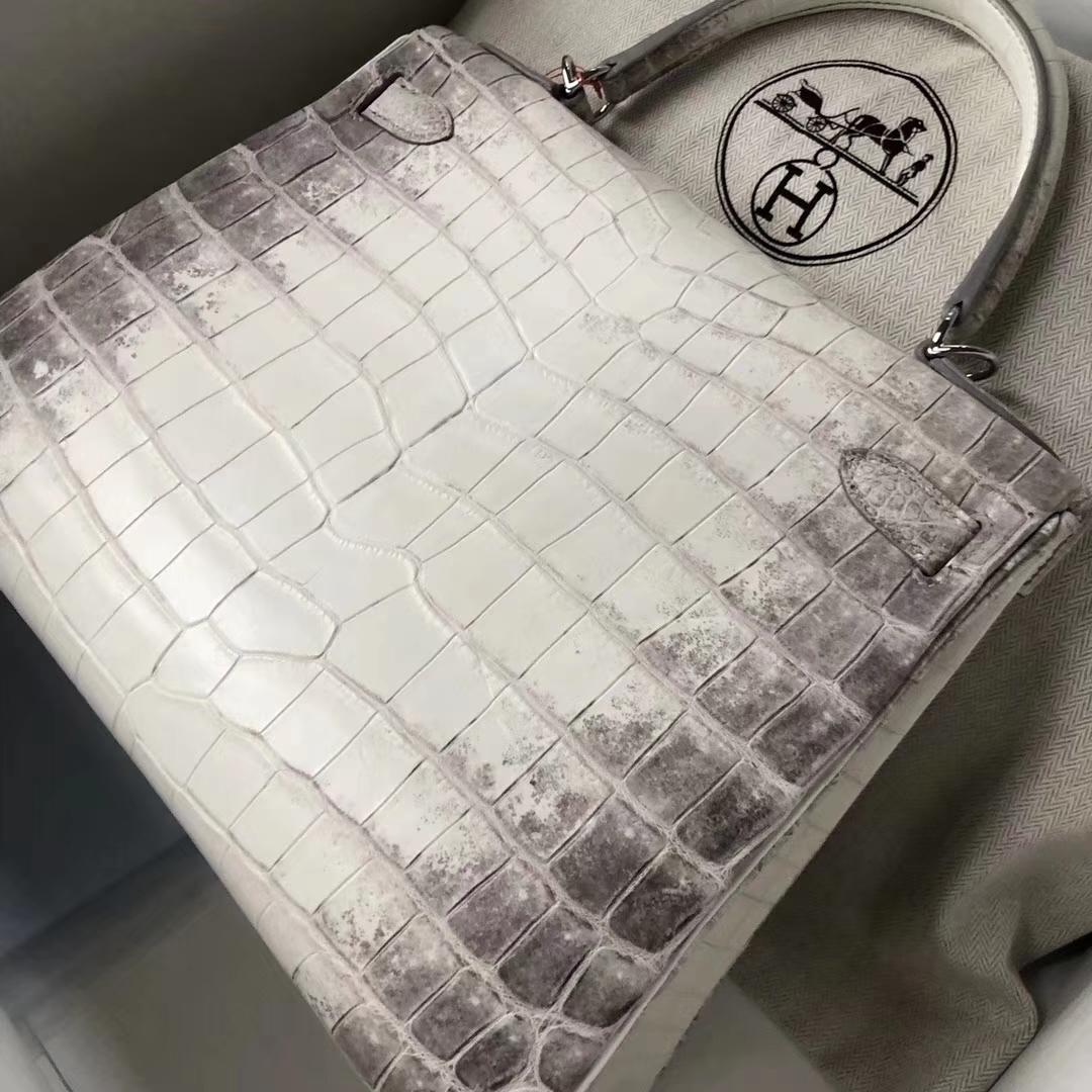 Discount Hermes Himalaya Crocodile Leather Kelly28CM Bag Silver Hardware