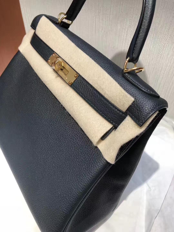 Wholesale Hermes New Color 6o Vert Cypres Togo Calf Kelly28CM Bag Gold Hardware