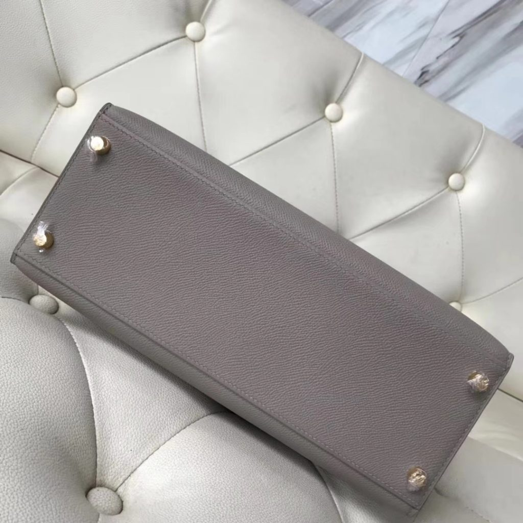 Discount Hermes M8 Gris Ashpite/8F Etain Grey Epsom Calf Kelly28CM Tote Bag Gold Hardware